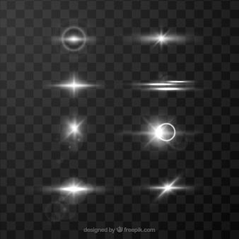 Coleção de reflexo de lente branca