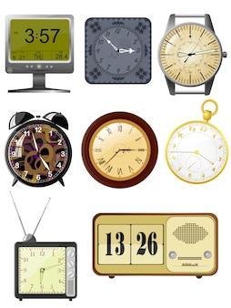 Coleção de relógio de ilustrações vetoriais