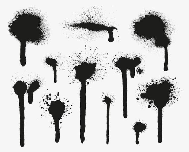 Coleção de respingos de tinta