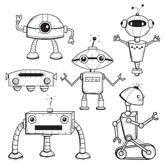 Coleção de robôs