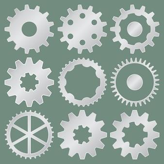 Coleção de rodas de engrenagem de alumínio