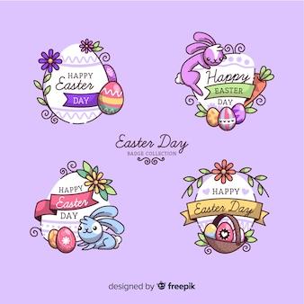 Coleção de rótulo de dia de páscoa