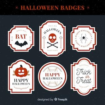 Coleção de rótulo de halloween criativo