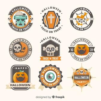 Coleção de rótulo de halloween