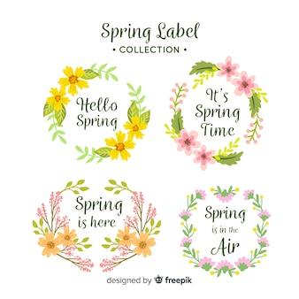Coleção de rótulo de primavera