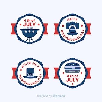Coleção de rótulo de quatro de julho