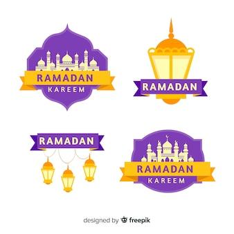 Coleção de rótulo do ramadã