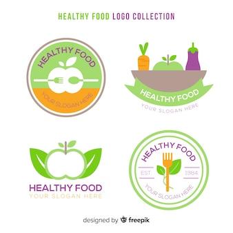 Coleção de rótulo simples de alimentos orgânicos