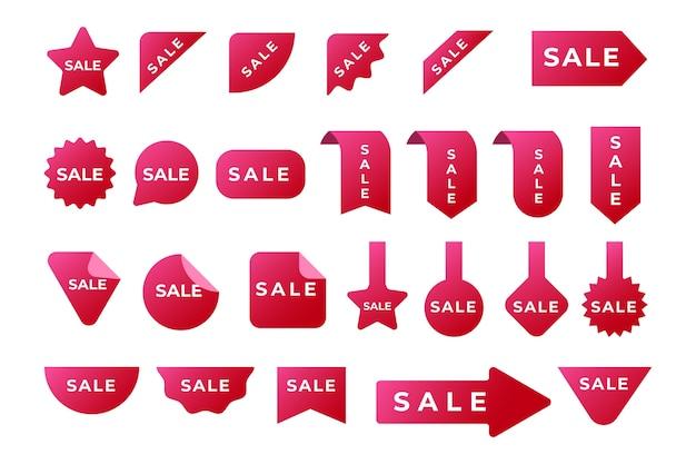 Coleção de rótulo vermelho de vendas