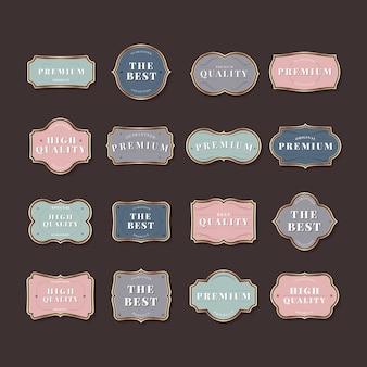 Coleção de rótulo vintage