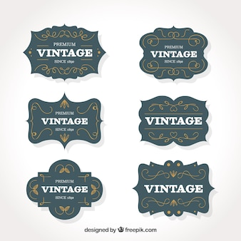 Coleção de rótulos com estilo vintage