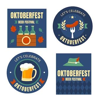Coleção de rótulos da oktoberfest