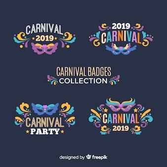 Coleção de rótulos de carnaval