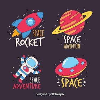 Coleção de rótulos de espaço