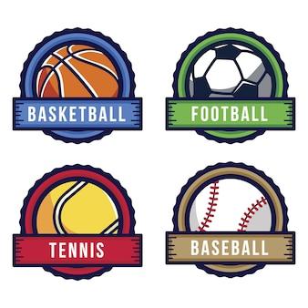 Coleção de rótulos de esportes