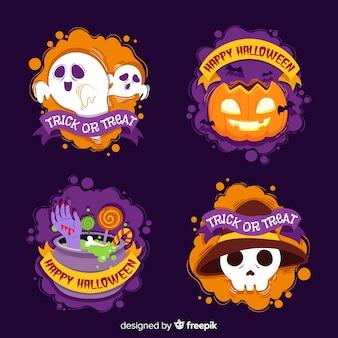 Coleção de rótulos de halloween