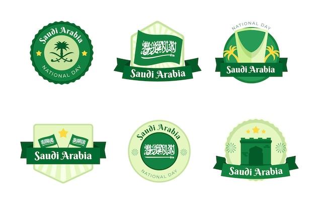 Coleção de rótulos do dia nacional da arábia