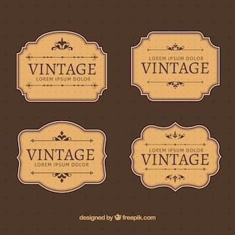 Coleção de rótulos em estilo vintage