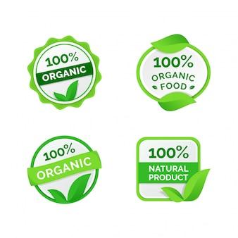 Coleção de rótulos orgânicos