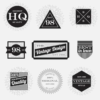 Coleção de rótulos vintage, modelo de design