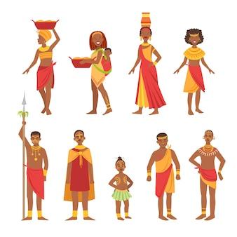 Coleção de roupa tribal nacional africana