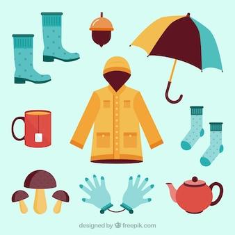 Coleção de roupas de outono