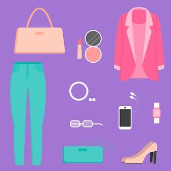 Coleção de roupas, ilustração