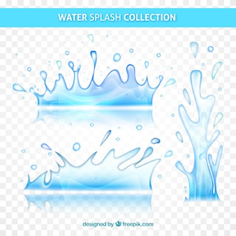 Coleção de salpicos de água sem fundo