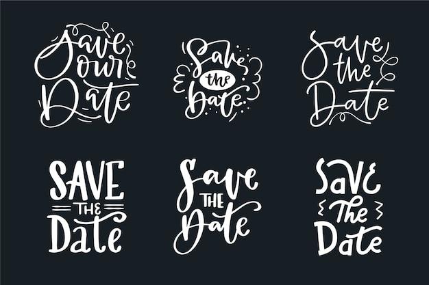 Coleção de salvar a data casamento letras