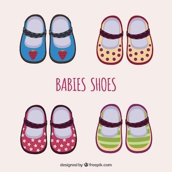 Coleção de sapatos de bebês