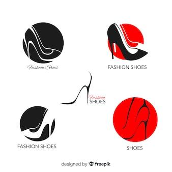 Coleção de sapatos de moda logo