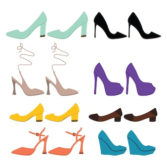 Coleção de sapatos femininos
