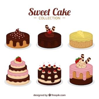 Coleção de seis bolos diferentes