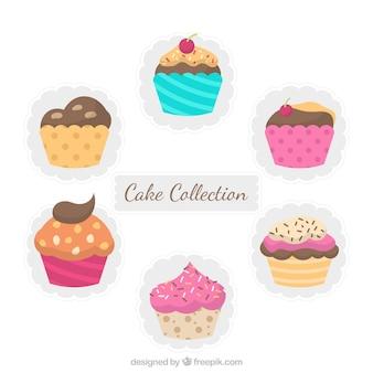 Coleção de seis muffins