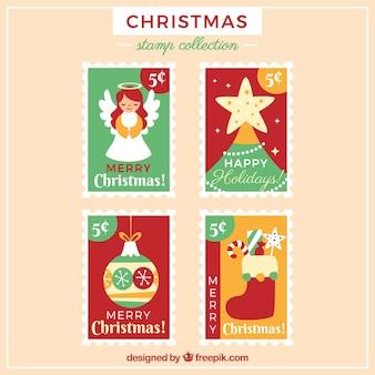 Coleção de selo de natal
