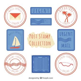 Coleção de selo de postagem fantástica