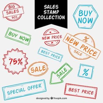 Coleção de selo de venda