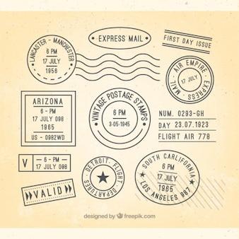 Coleção de selo de viagem