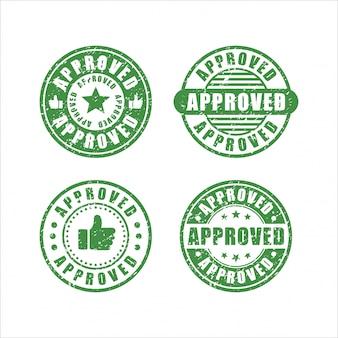 Coleção de selos de design aprovado