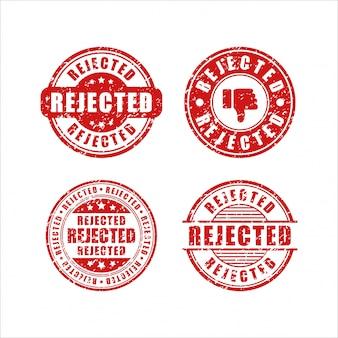 Coleção de selos de design rejeitado