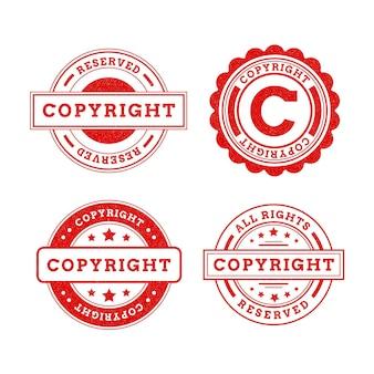 Coleção de selos de direitos autorais