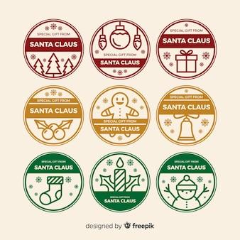 Coleção de selos de natal do círculo