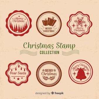Coleção de selos de natal