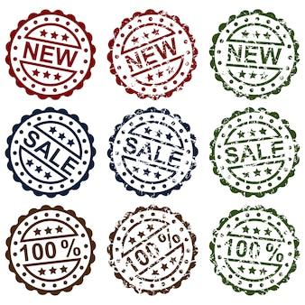 Coleção de selos de venda