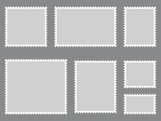 Coleção de selos postais. vetor