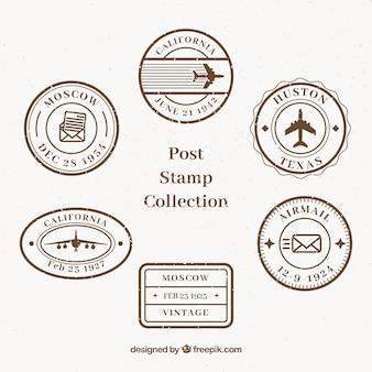 Coleção de selos retro post