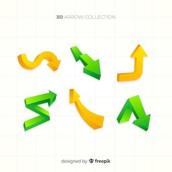 Coleção de seta 3d