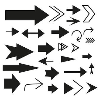 Coleção de setas de design plano Vetor Premium