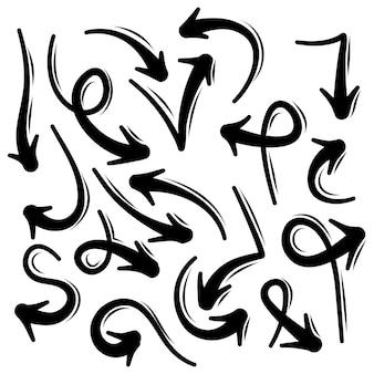Coleção de setas do doodle