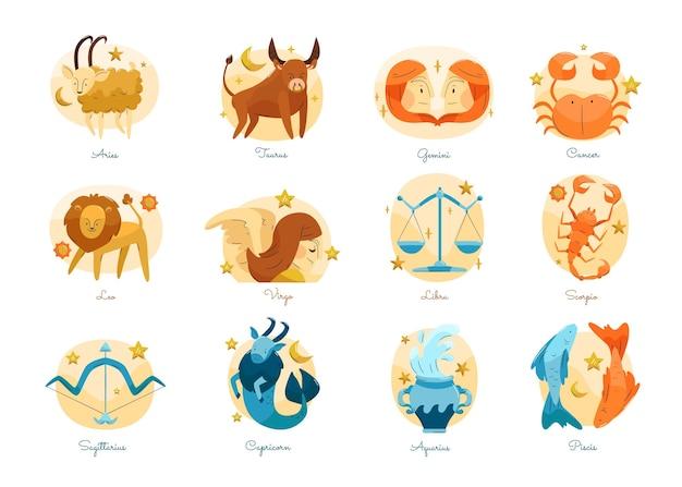 Coleção de signos do zodíaco